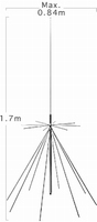 Diamond D-130NJ Discone Antenne - 25/1300 Mhz - N - 1,70m