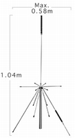 Diamond D-150NJ Discone Antenne - 50/1500 Mhz - N - 1,04m